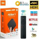 Tv Box Xiaomi Mi Box S Netflix 4k Con Canales Tv Premium