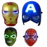 Mascaras Avengers Con Luces Capitan America Iroman Hulk