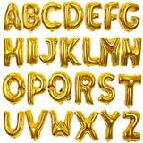 Globos De Números Y Letras Metalizados De 70 Cm