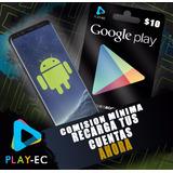 Tarjeta De Regalo Google Play  Store Usa Gift Card 10$