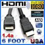 Cable Hdmi V1.4 1.8m Ps3 Tv Lcd Led Dvd Blu Ray 3d Xbox Dj $
