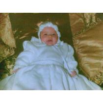 Vestido De Bautizo Color Blanco Tejido A Mano