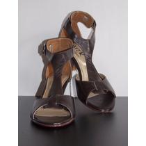 Zapato - Sandalia Café De Mujer Talla 37 - Marca Zarek
