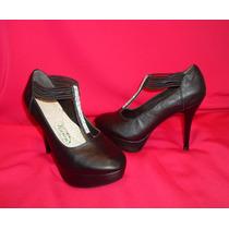 Zapato Mujer Plataforma 10 Pulsera Diamante Negro Talla 36
