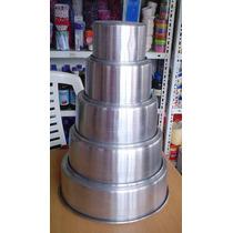 Juego Moldes Redondos Para Torta En Aluminio 100% Resistente