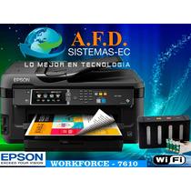 Impresora A3 Epson Workforce 7610 Con Sistema Tinta Continua