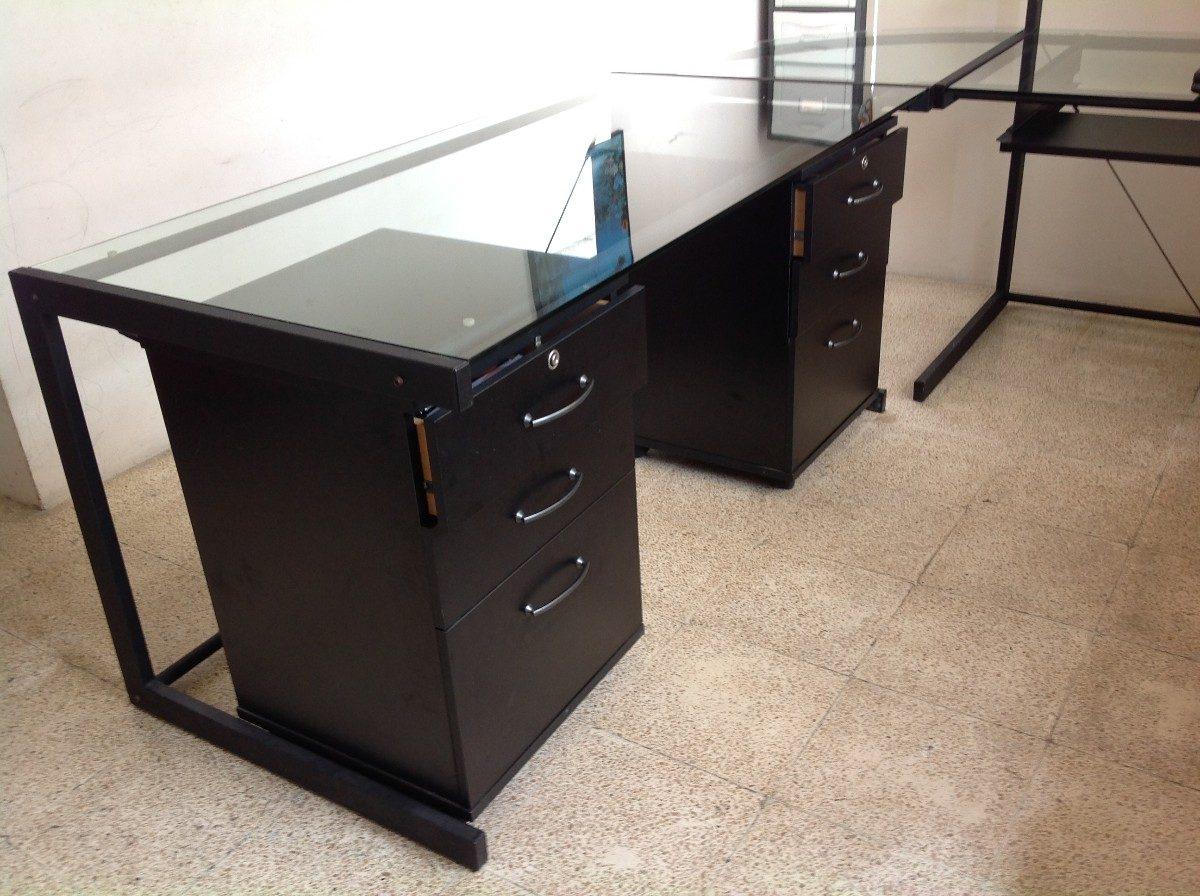 Muebles de vidrio y metal 20170816110930 for Escritorio de vidrio