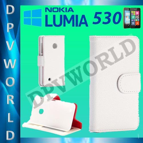 Estuche Nokia Lumia 530 Rm-1017/19 Tipo Agenda De Cuero