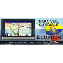 Mapa Vial Ruteable Ecuador Gps Garmin Android Iphone Ipad