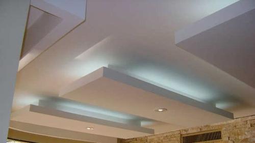 Gypsum cielo raso pintura decoracion construcci n planoss for Modelos de cielo falso