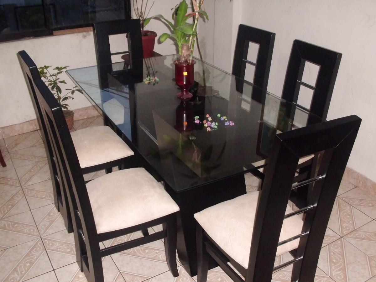 Decorar cuartos con manualidades mesa de comedor con vidrio for Mesas de comedor rectangulares