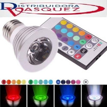 Foco Led Multicolor Control Remoto,decoracion16colores 110v