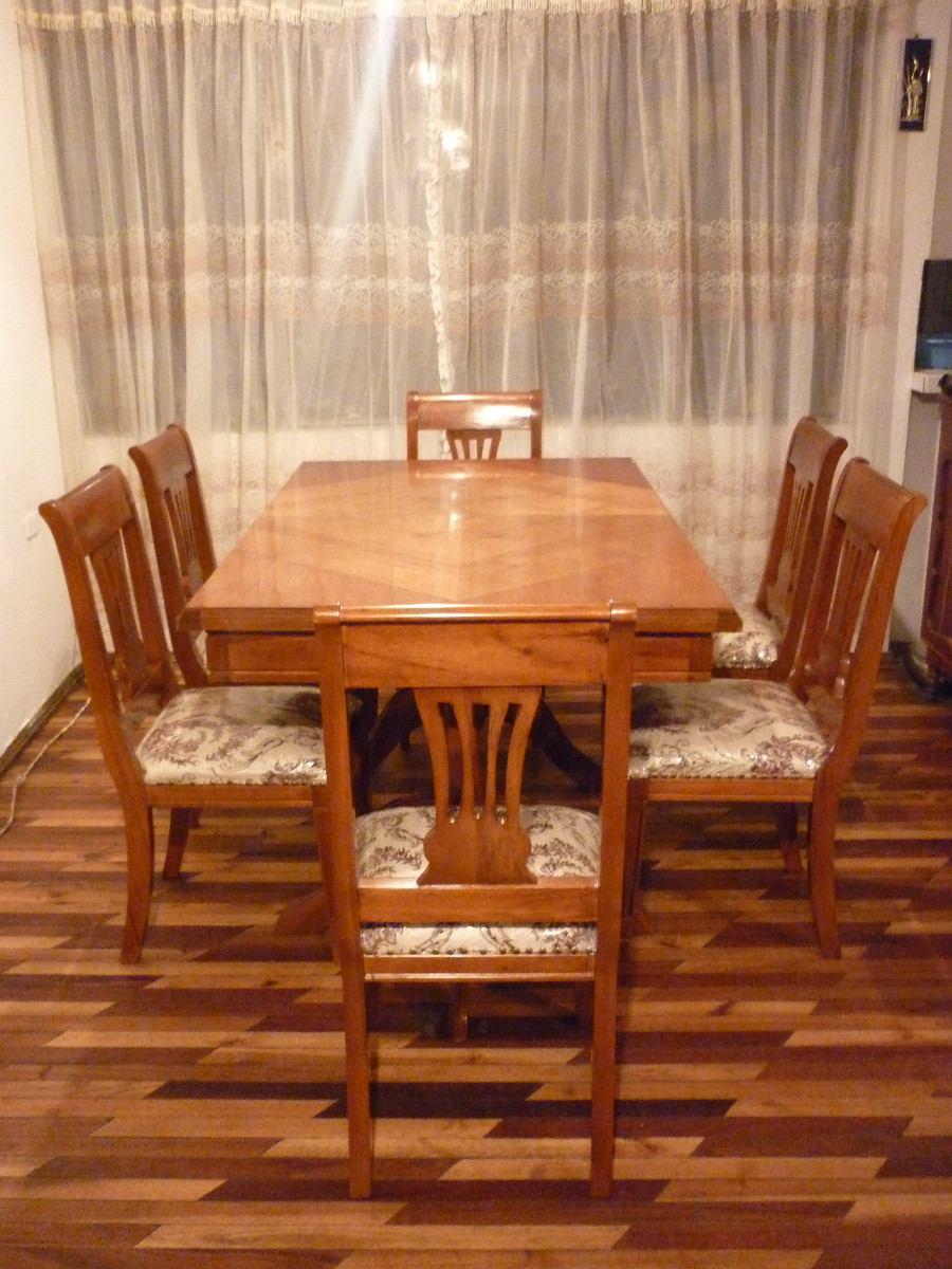 Juego de comedor para 6 personas mesa sillas u s 720 for Comedor 6 sillas usado