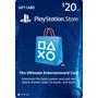 Tarjeta Prepago $20, Playstation Store Gift Card