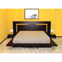 Dormitorio Lineal Moderno,cama 2 Plz+ 2 Veladores Dr 016
