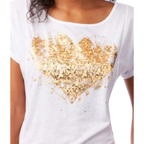 Camiseta Aeropostale De Mujer Large Corazon ( 359 )
