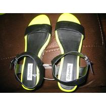 Zapatos Aeropostale Plataforma Verde Neon T 9 ( 879 )