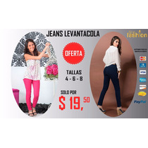Jeans Levantacola De Cintura 100% Originales
