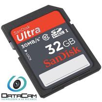 Sd Sandisk 32gb Class 10 Para Camara Profesional Nikon Canon
