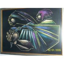 Vendo Cambio - Pintura - Contreras - Tiza Pastel - 93x66