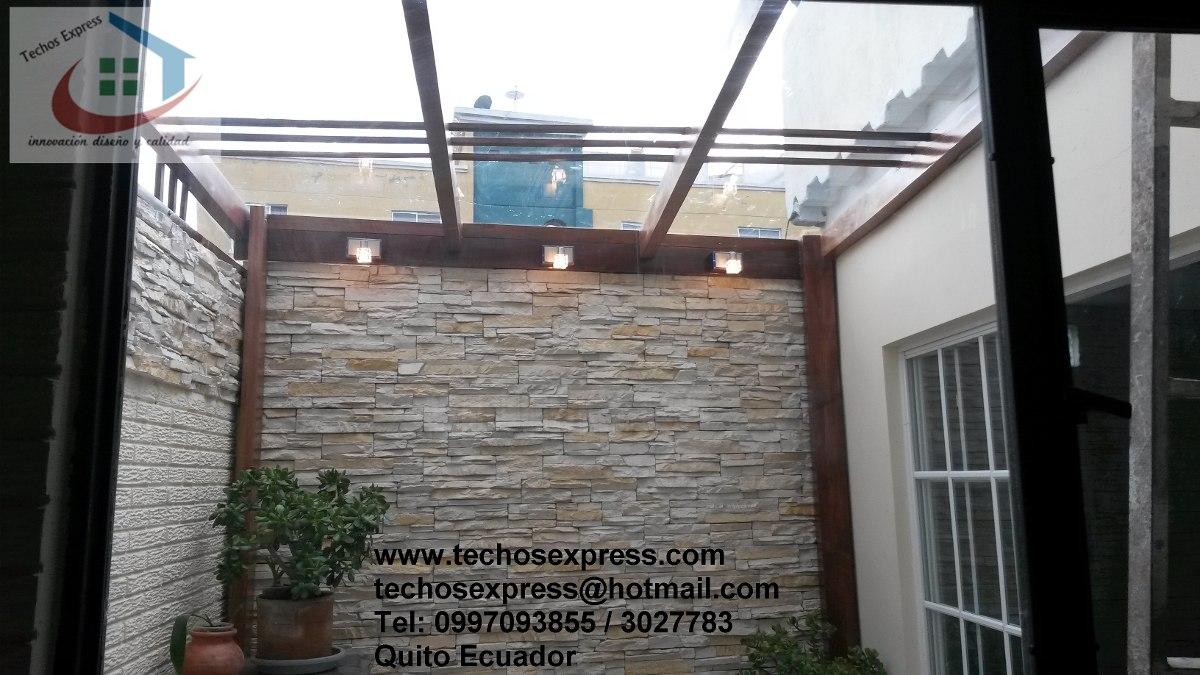 Policarbonato polygal techos corredizos pergolas cubiertas - Cubiertas para patios ...