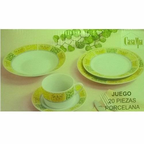 Promocioneslafamilia vajillas de porcelana 20 pzs for Marcas de vajillas de porcelana