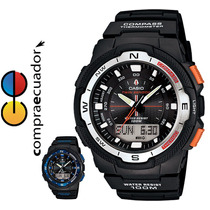 Casio Sgw-500h Reloj Brújula Termómetro Datos Lunares 10bar