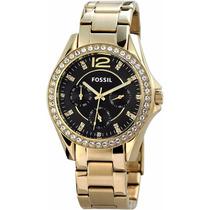 Reloj De Pulsera Dorado Multifunción De Mujer Fossil Es3384