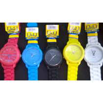 Reloj Q&q Colors Unisex Originales Water Resistant