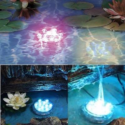 Luz led sumergible control remoto 16 colores peceras for Piletas para peces