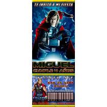 Busca Tarjeta Invitacion Digital Avengers Thor A La Venta En