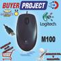 Mouse Optico Usb Logitech M100 Soporta Windows Mac Linux | BUYERPROJECT