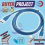 Cable Datos Usb 3.0 Macho A Macho Tipo A-a 1.8 Metros 6 Pies | BUYERPROJECT