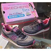 zapatos skechers memory foam dama 100